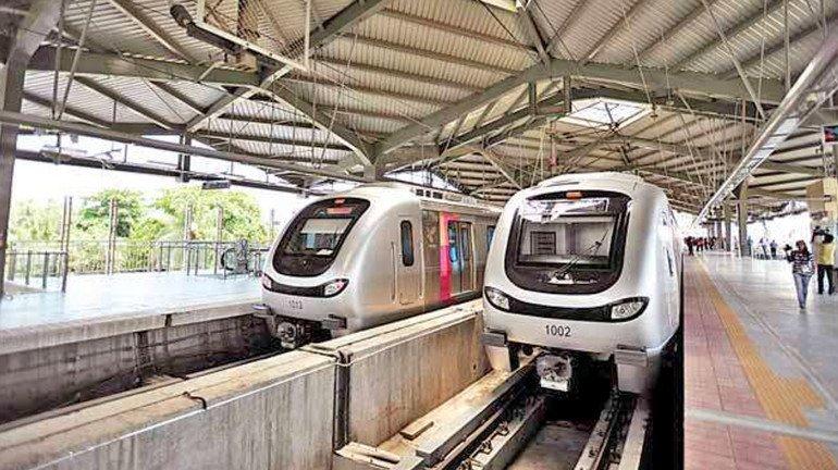 मेट्रो ट्रेन की सेवा में की गई एक घंटे की बढ़ोत्तरी