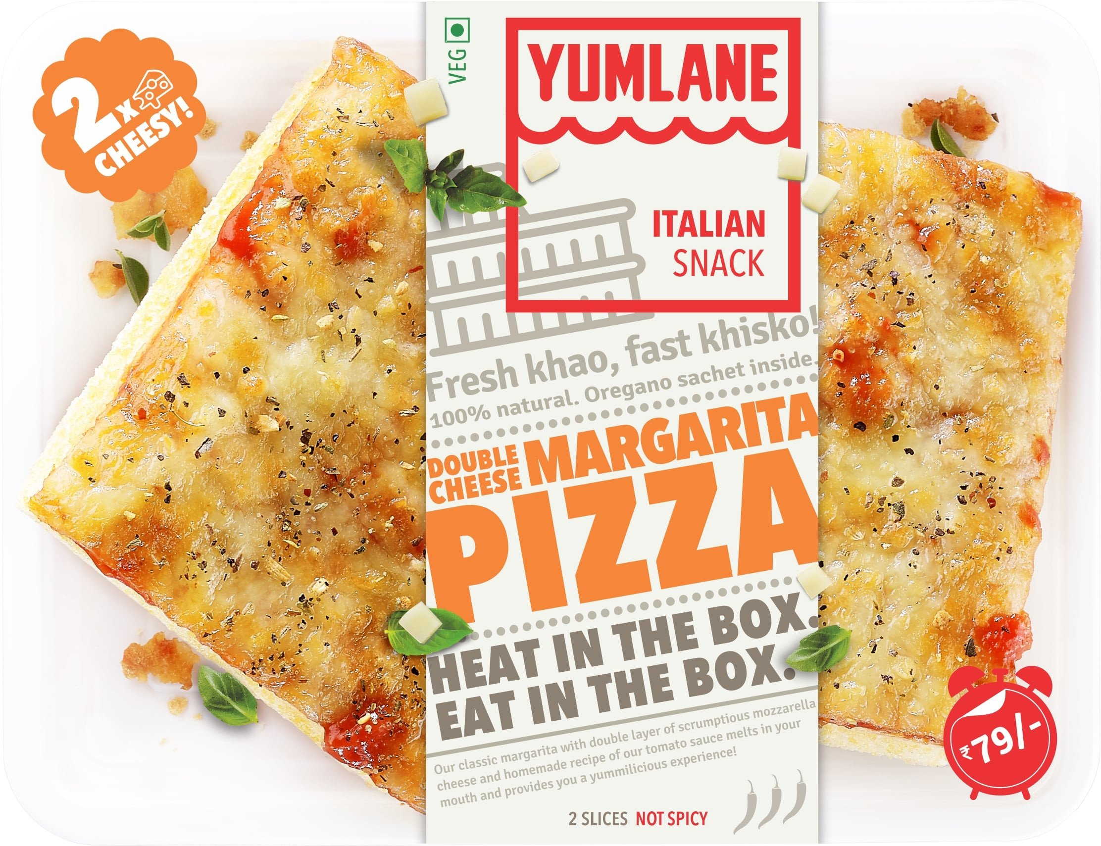 In a hurry but hungry? Yumlane's Heat N' Eat Pizzas Will Come To Your Rescue!