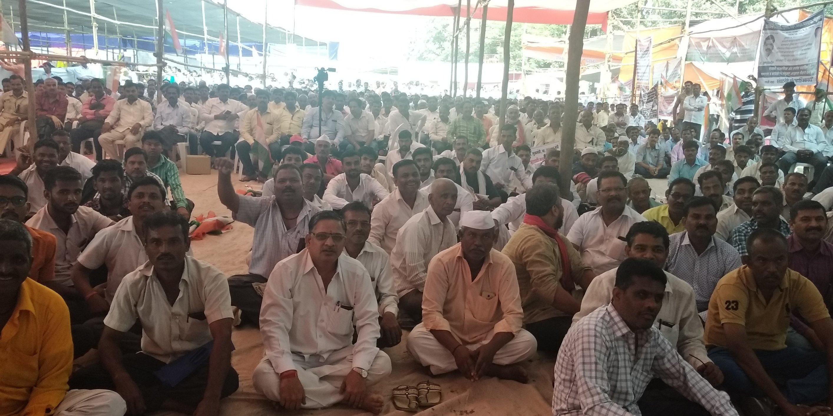 माथाडी कामगार संघटनांचं काम बंद आंदोलन