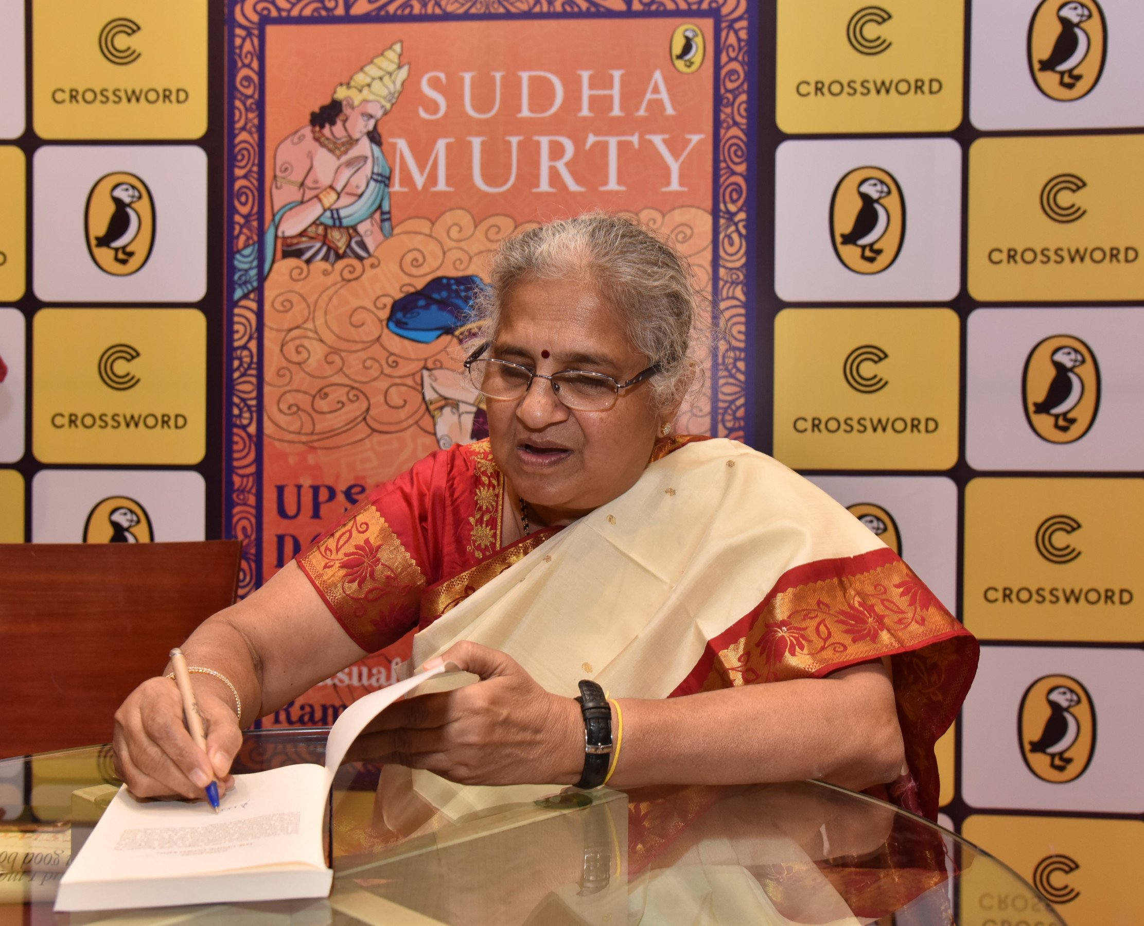 Crossword Bookstores and Puffin India launch Sudha Murty's 'The Upside Down King' in Mumbai