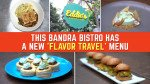 Eddie's Bistro & Bar serves the new 'Flavor Travel' menu for the first time since inception