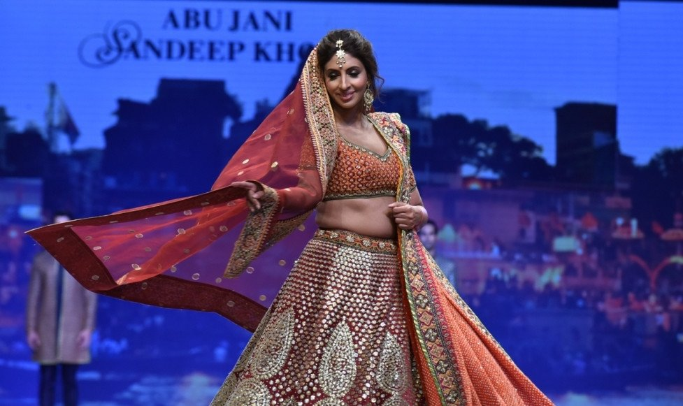 Bollywood celebs walked the ramp for Abu Jani & Sandeep Khosla and Shaina NC at 'Caring with style' fashion show