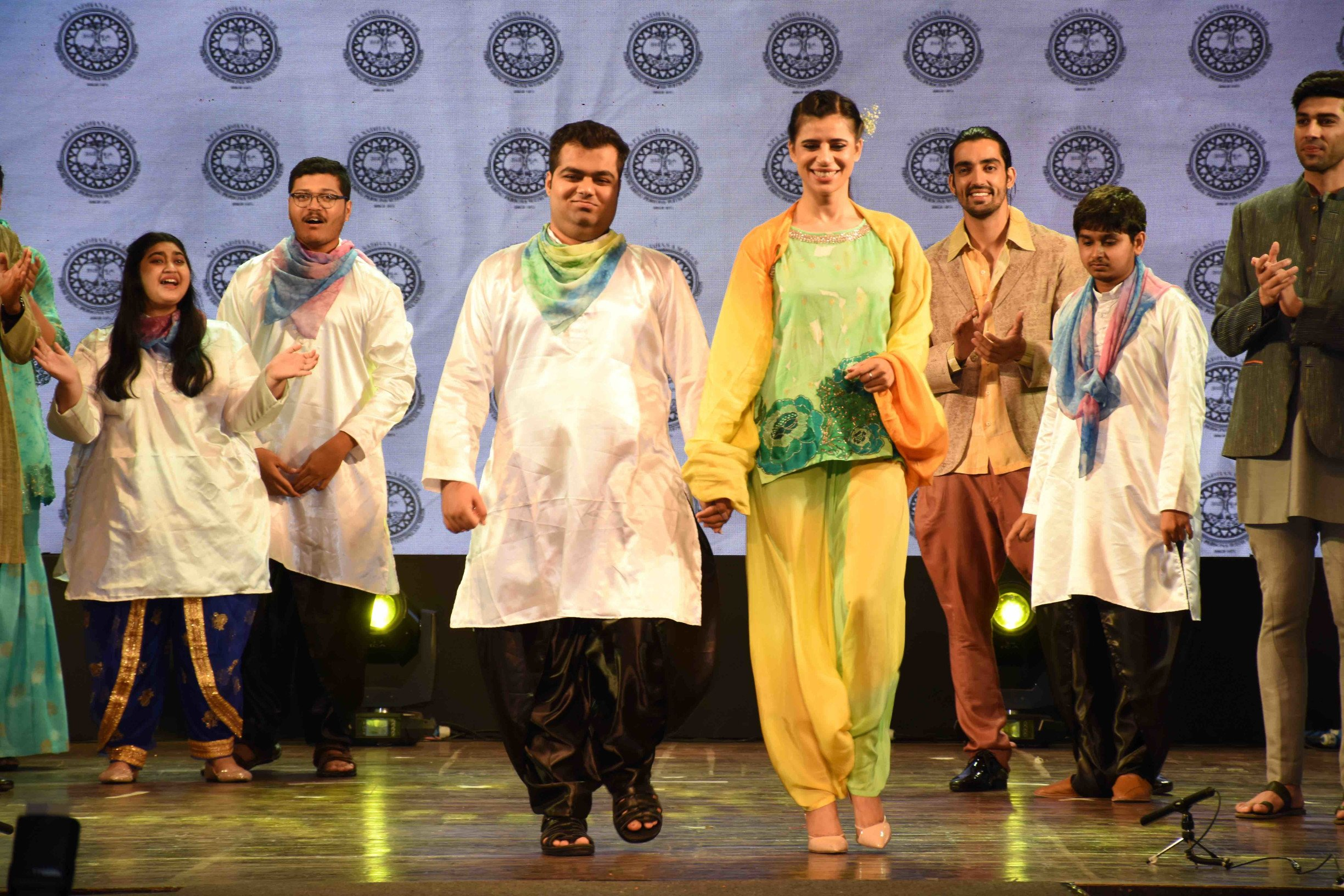 S.P.J. Sadhana School showcased a collection of Krishna Mehta at Fashion Extravaganza — 'VARNAM'