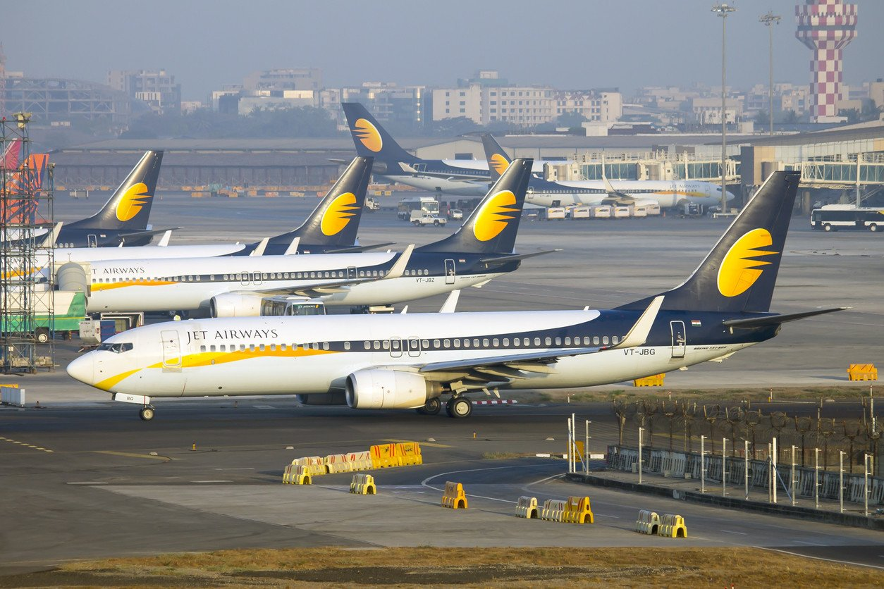 Employees protest outside Jet Airways Office