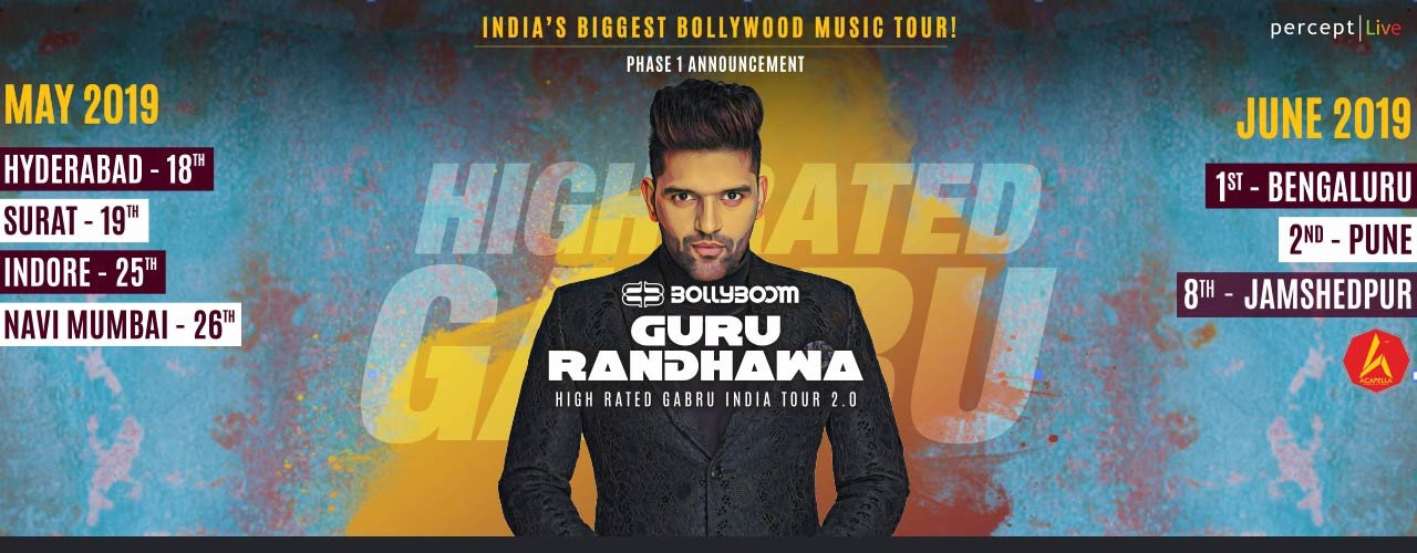 Bollyboom announces phase 1 of Guru Randhawa's High Rated Gabru India Tour 2.0