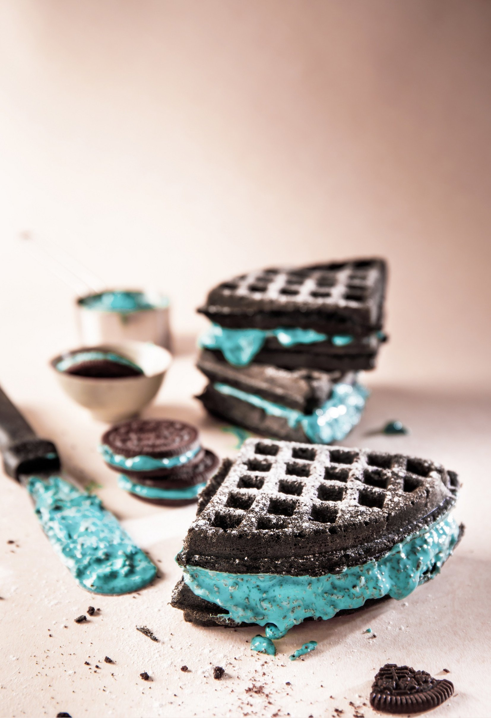 The Belgian Waffle Co's 'Kiki n Cream' Waffles and Pancakes are a Cookies N' Cream Dream Come True!
