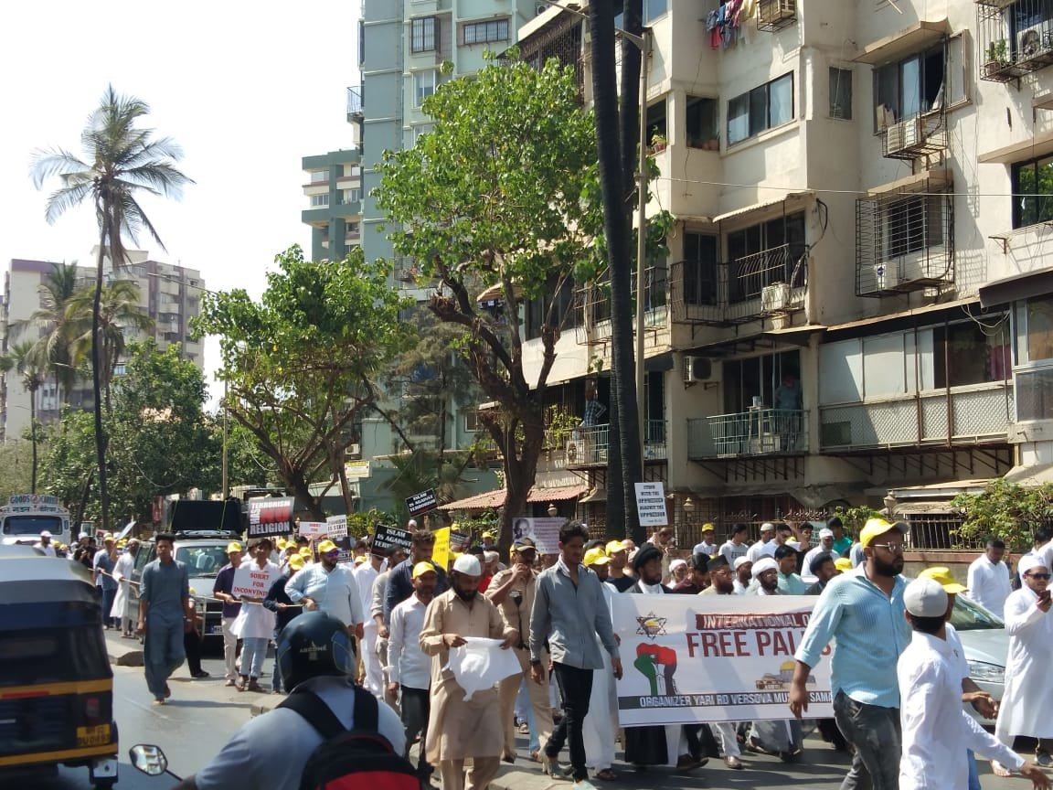 Mumbai participate in a march on 'World Quds Day'