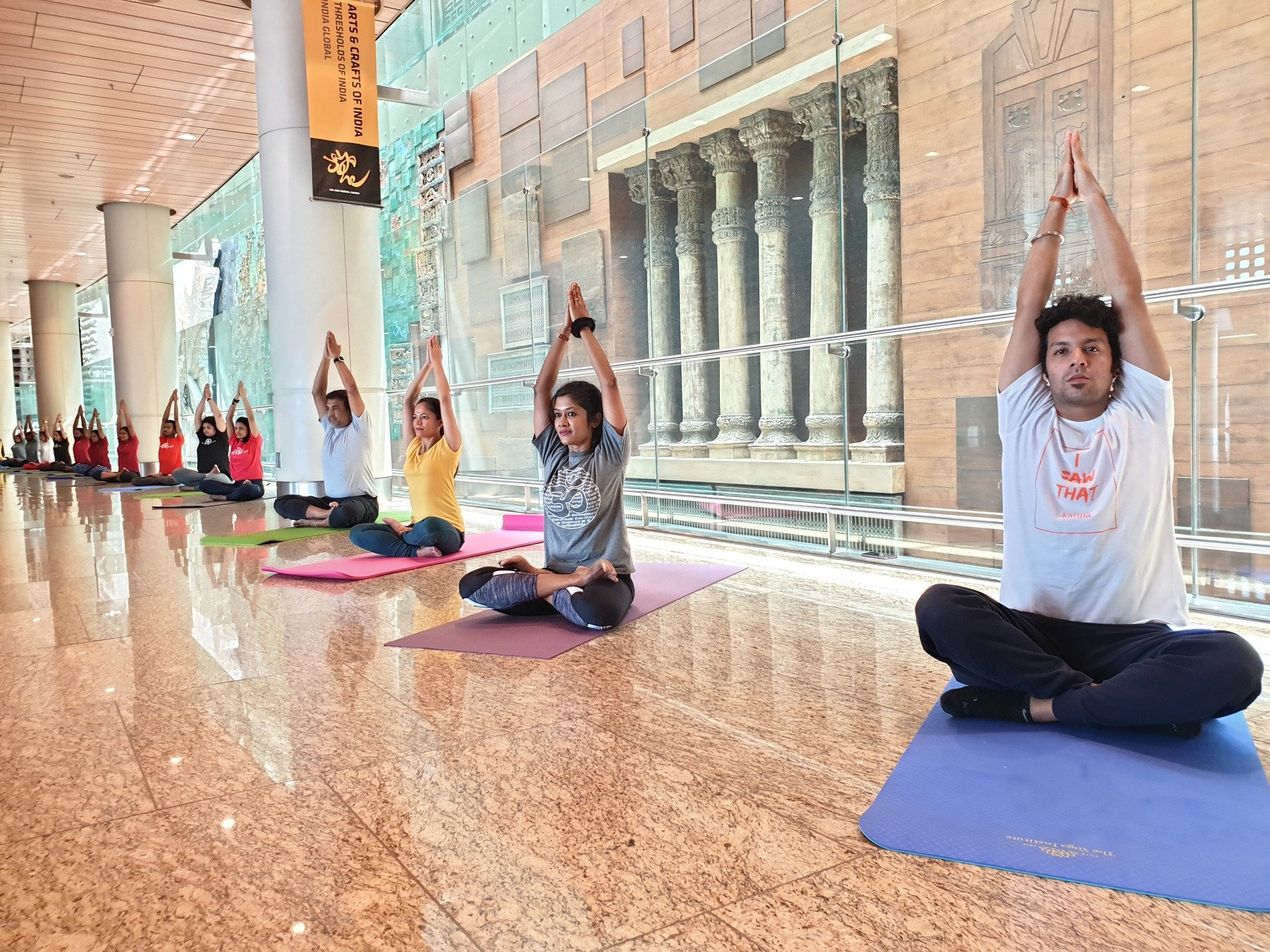 Mumbai International Airport Revives Indian Culture And Art Through Yoga By The Art Wall