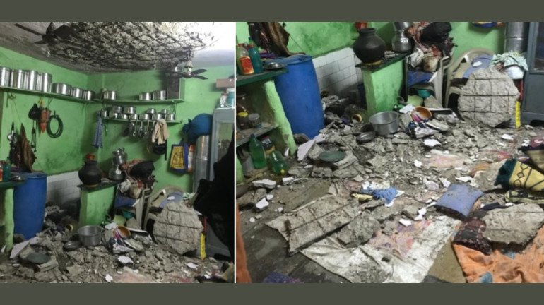 बांद्रा में घर का हिस्सा गिरा, दो घायल