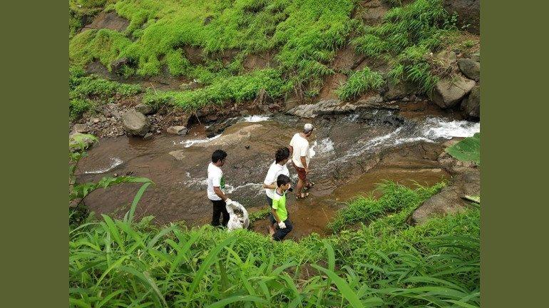 Waterfall Clean Up Drive Conducted At Vadap, Kharghar