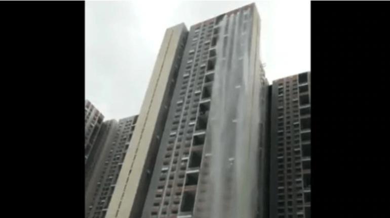 Mumbai Rains: Waterfall in the heart of Mumbai?