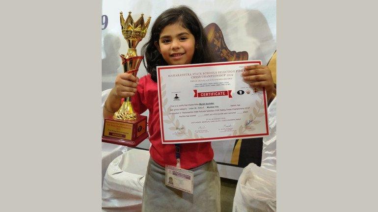 Maharashtra State Schools Chess Championship 2019: Mumbai girl Myrah Suchdev wins Under-6 chess crown