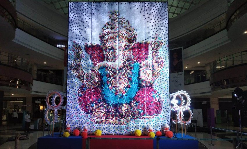 Ganesh Utsav 2019: 20-ft Ganpati Idol Made Out of 10,800 Plastic Bottles