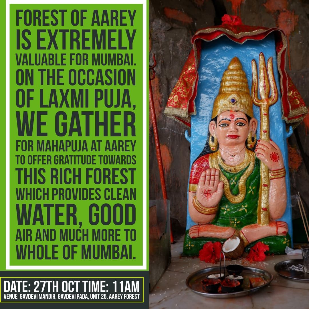 This Diwali, Adivasis At Aarey Organise A Laxmi Pooja For The Forest