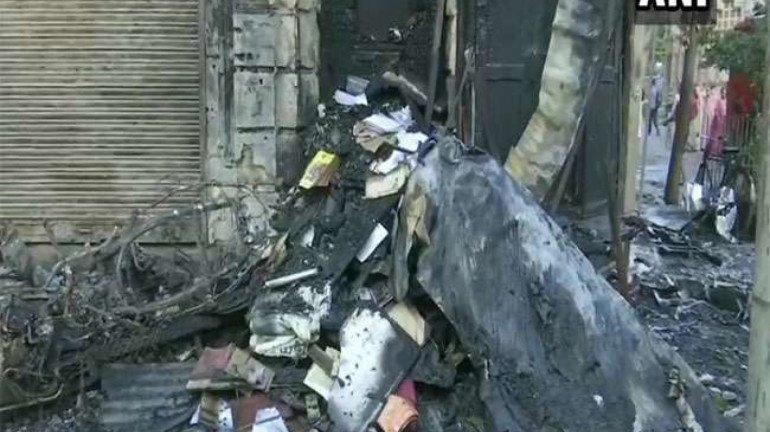 Fire Breaks Out At Bhendi Bazaar