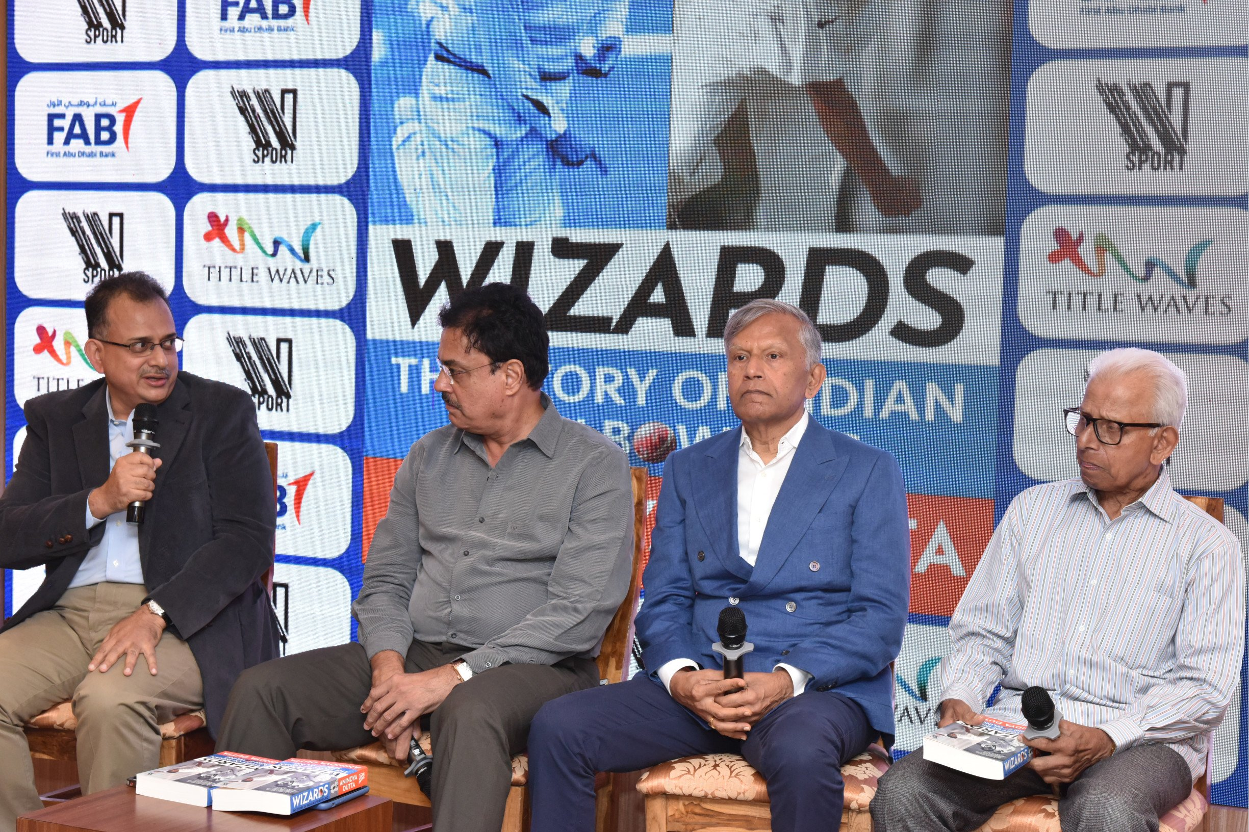 Anindya Dutta launches his latest book, Wizards: The Story of Indian Spin Bowling