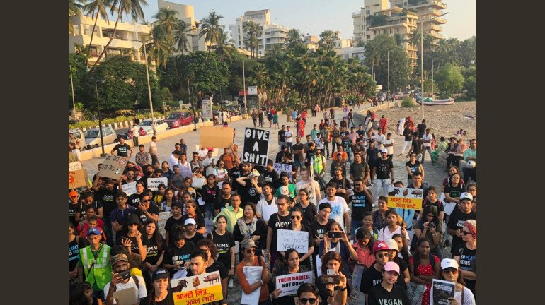 Citizens protest against the Proposed Zoo in Aarey Colony