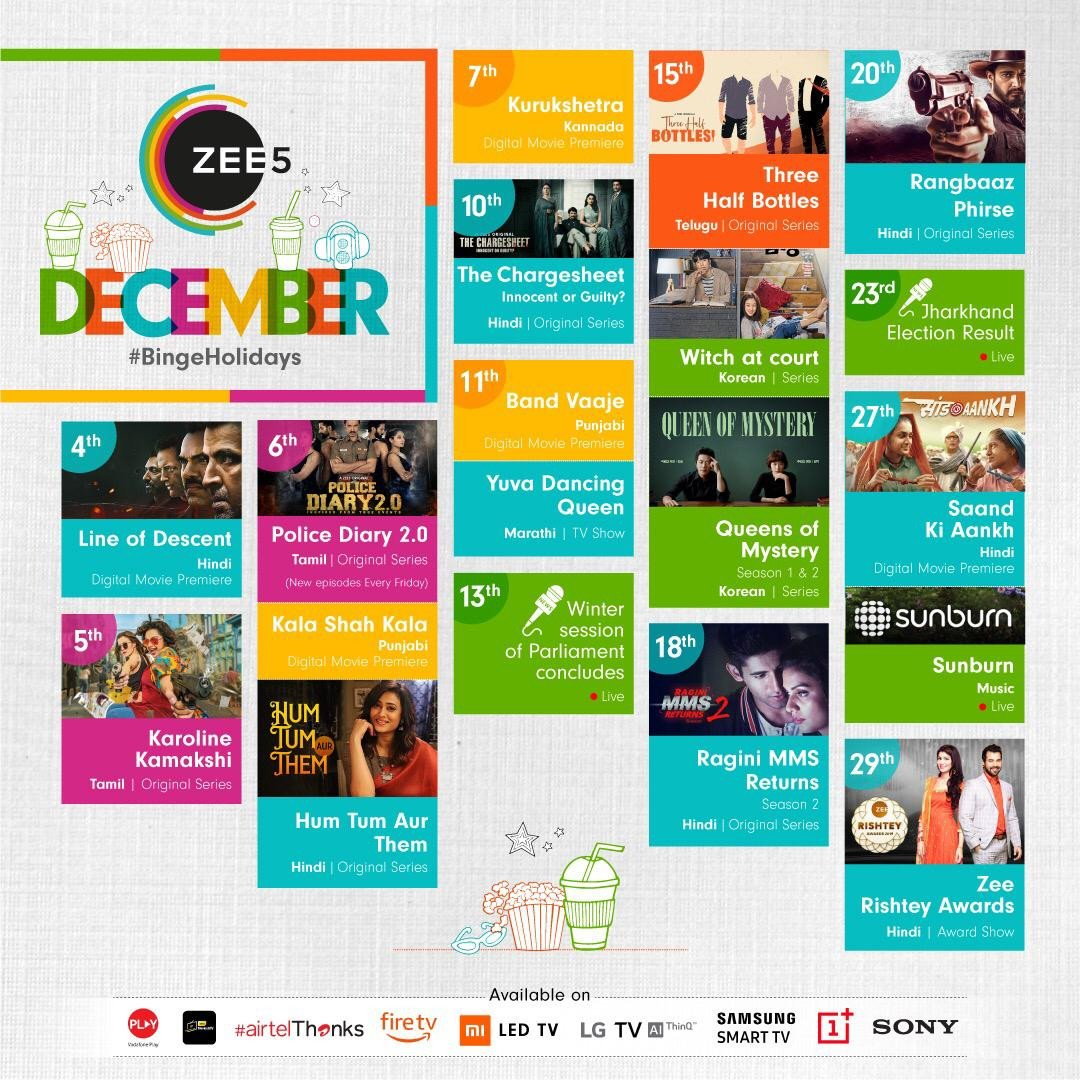 ZEE5 unveils the 'December binge-watch calendar' with new shows