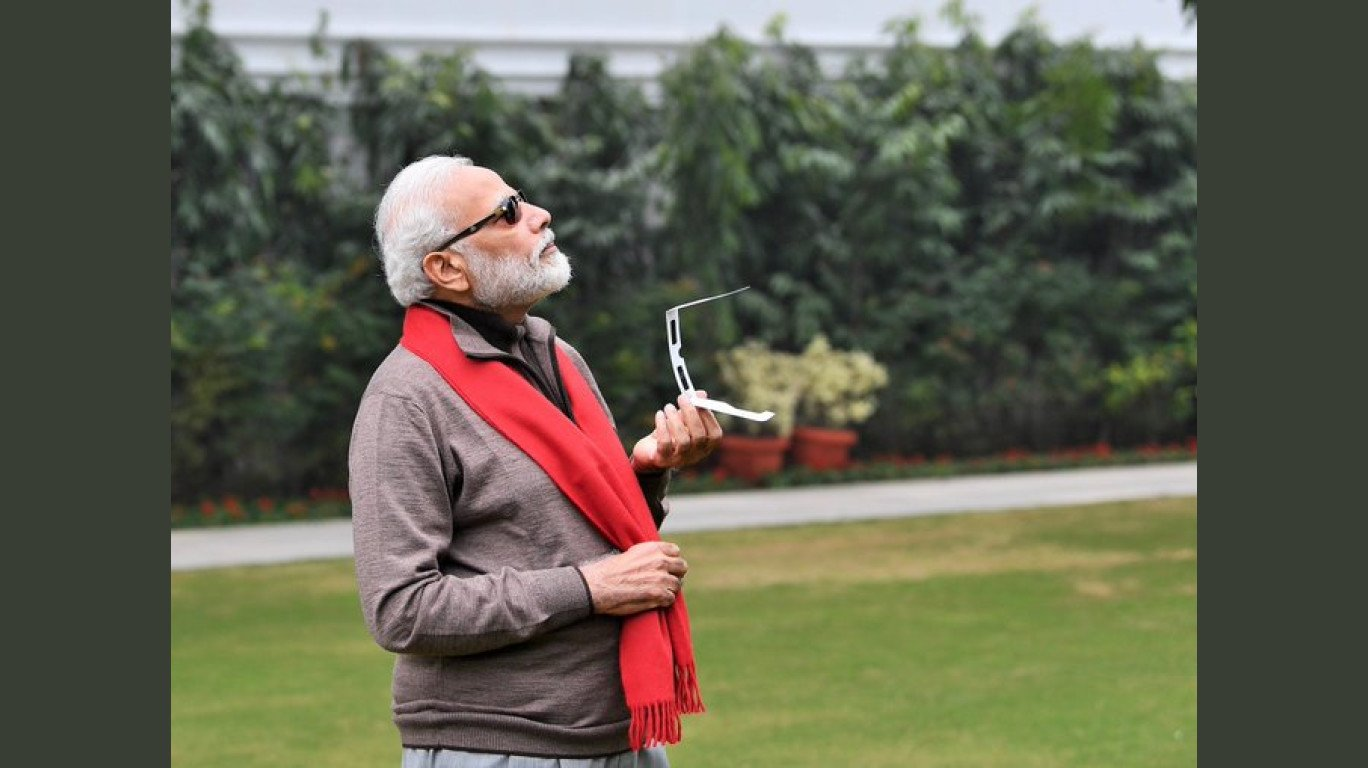 PM Modi's Maybach sunglasses during the Solar Eclipse inspire a world of memes