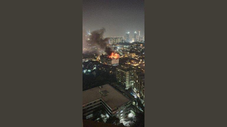 Massive Fire at Milan Industrial Estate