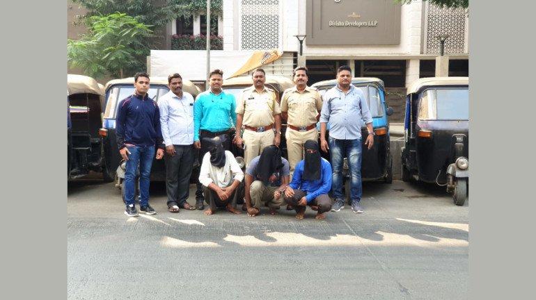 रिक्शा चोरी करनेवाला गिरोह गिरफ्तार