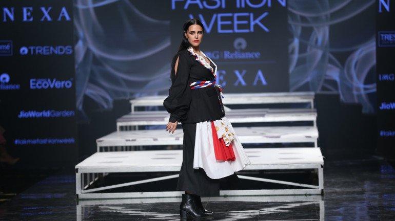 In pics: Neha Dhupia and Saiee Manjrekar walk the ramp for Gen Next Designers at LFW 2020