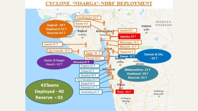 Cyclone Nisarga: 45 NDRF teams deployed in Maharashtra, Gujarat