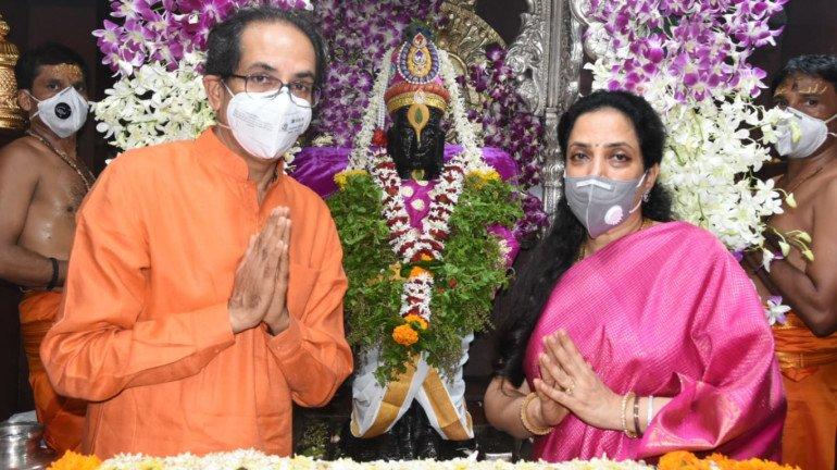 महाराष्ट्र के सीएम उद्धव ठाकरे  पंढरपुर मे की पूजा