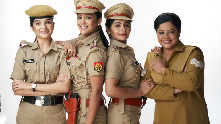 Real-life women police officers share experiences with the cast of Sony SAB's 'Maddam Sir'