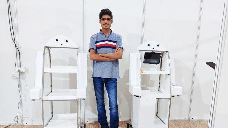 Meet Mirza Samnani who developed a 'Medbot' deployed at four COVID facilities