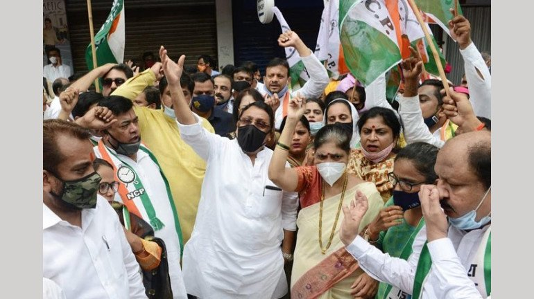 Bharat Bandh: No significant impact in Mumbai; Non-BJP parties support protests