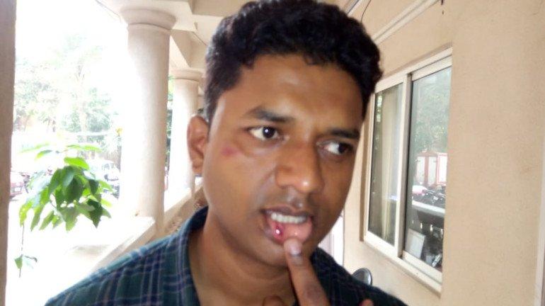 भाजप कार्यकर्त्यांकडून पोलिसाला मारहाण, आरोपींना सोडवण्यासाठी 'या' आमदारानं केला फोन
