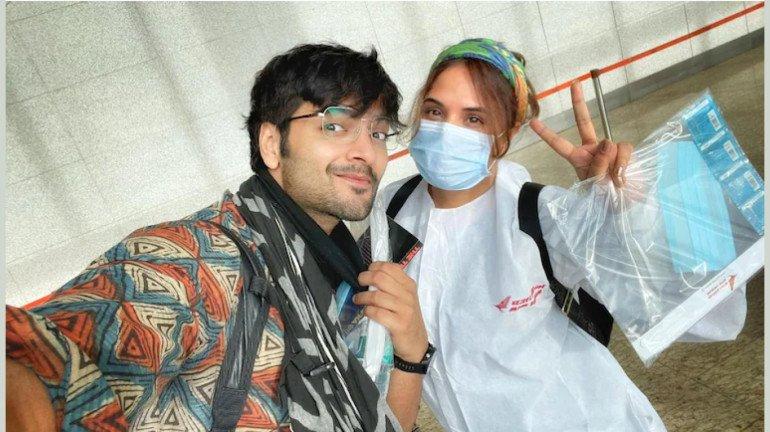 Richa Chadha and Ali Fazal shoot a teaser for their maiden production