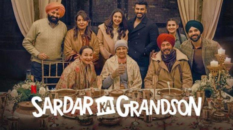 Malaika, Janhvi, Khushi and Boney urge fans to watch Arjun Kapoor's film 'Sardar ka Grandson'