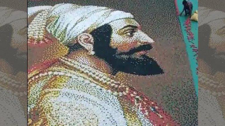 Shivaji Jayanti 2021: Thane artist makes world's largest mosaic portrait of Chhatrapati Shivaji Maharaj