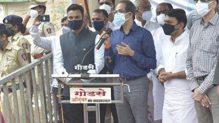 Maharashtra CM Uddhav Thackeray visits flood-hit Sangli