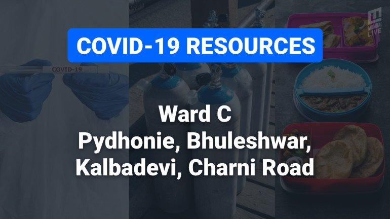 COVID-19 Resources & Information, Mumbai Ward C : चंदनवाडी, खेतवाडी, मरीन ड्राइव्ह