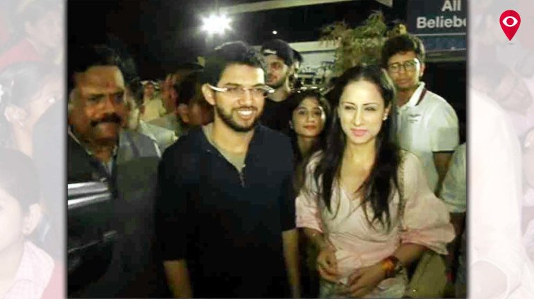 Who's this girl with Aditya Thackeray at the Justin Bieber Concert?