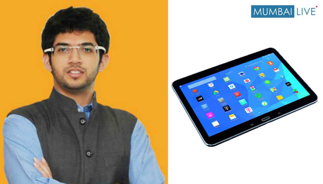 Aditya Thackeray to distribute tabs