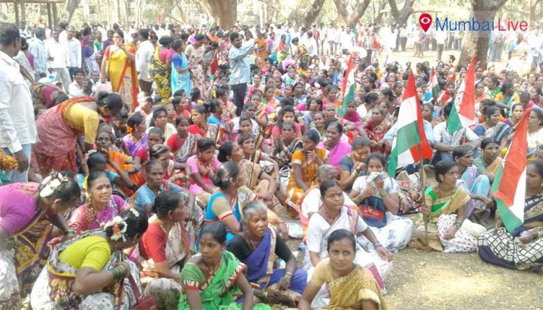 Adivasi community protests