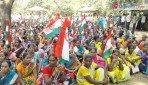 नेशनल पार्क में श्रमजीवी संगठन का आंदोलन