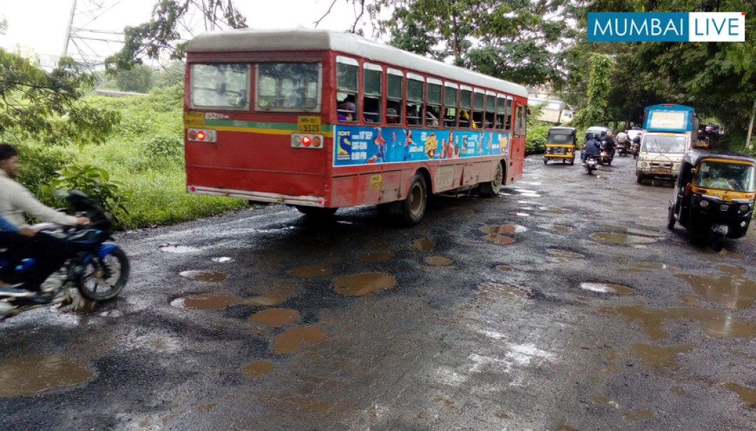 Bumpy ride at Aarey Colony road