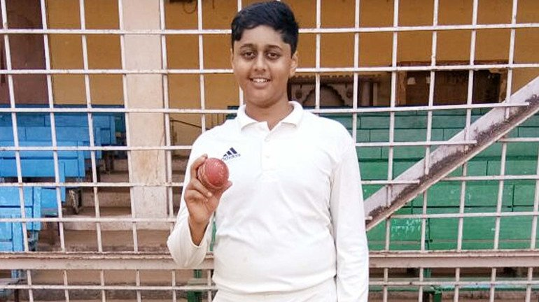15-year-old takes 0-5 in 3 overs during the N. T. Kelkar Trophy Cricket Tournament
