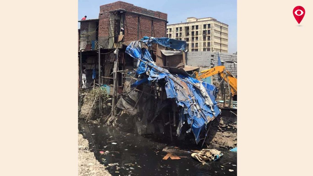 BMC demolishes slums in Geeta Nagar
