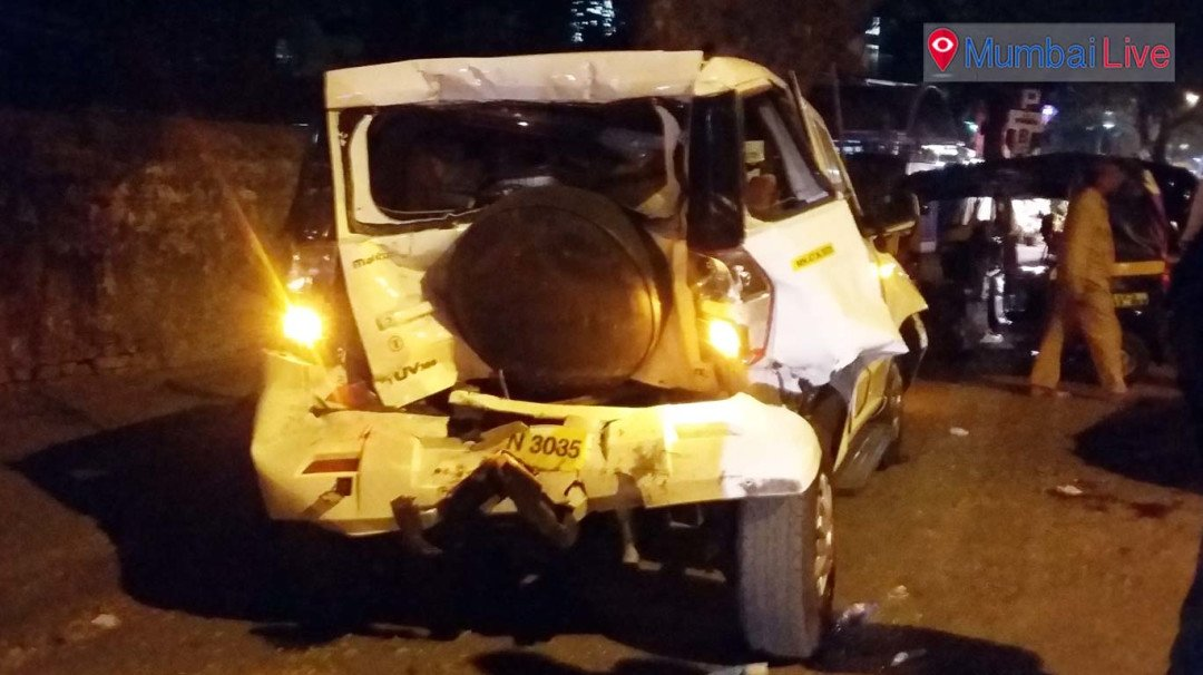 Two injured as dumper dashes 4 vehicles