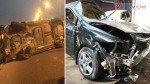 Honda City driver escapes death