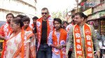 Prathmesh Parab and Vineet Sharma campaign for Sena