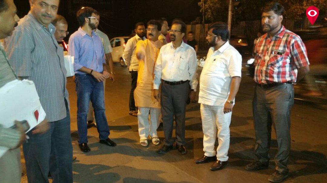 Aditya Thackeray inspects road work at midnight