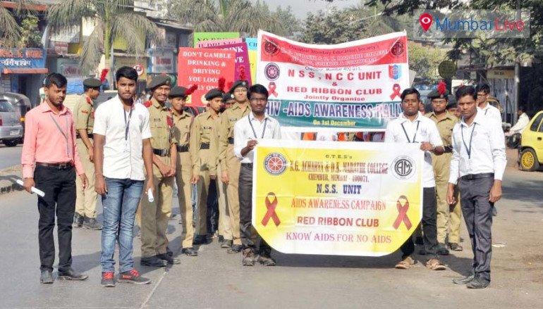 Students AIDS awareness rally