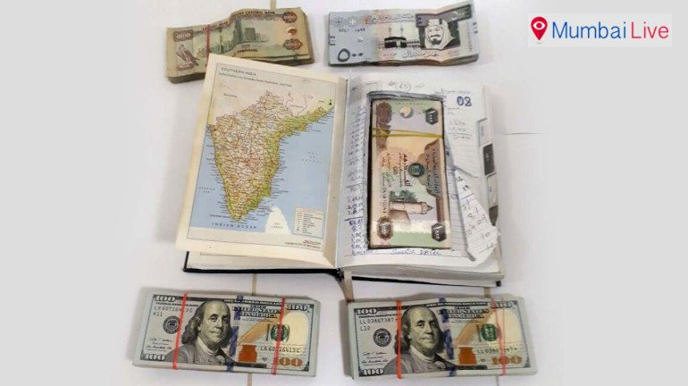 Foreign currency seized at airport